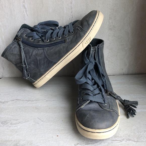 e5d7112ee26 UGG Blaney high top tassel tennis shoes zip 6